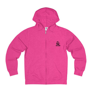 pink hoodie front logo