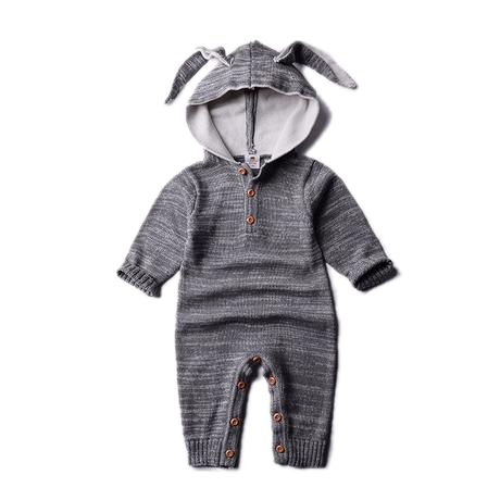 Knitted Rabbit Romper
