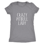 Crazy Pitbull Lady - Women's Vintage Tee