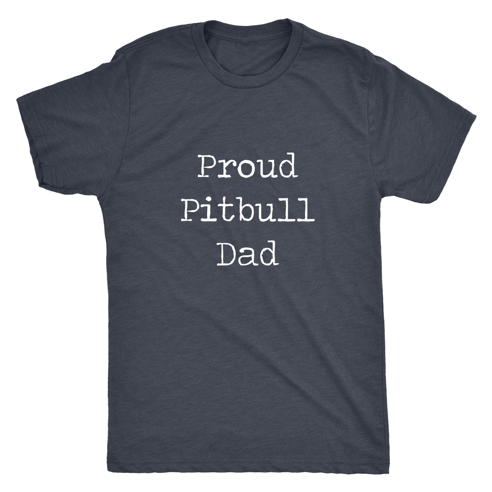 Proud Pitbull Dad (Typewriter) - Men's Vintage Tee