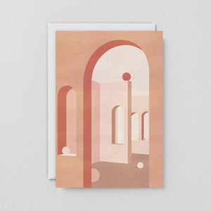 Terracotta Arches Art Card