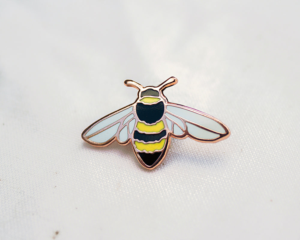Honeybee Enamel Pin For Charity