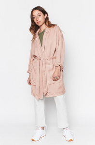 Dusty Pink Tencel Easy Jacket