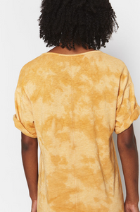 Golden Tie Dye Recycled Cotton Dress