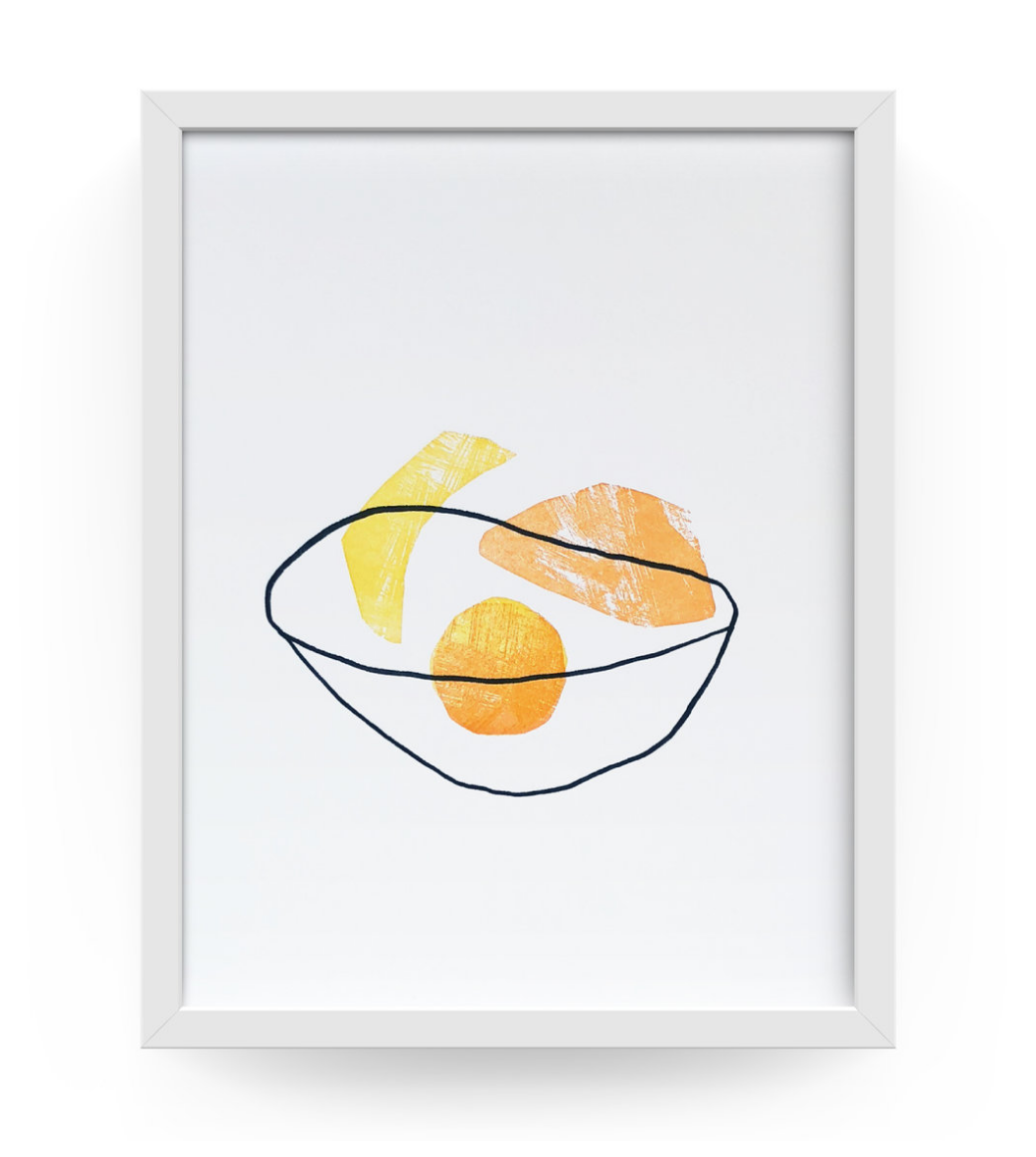 Fruit Bowl Letterpress Print