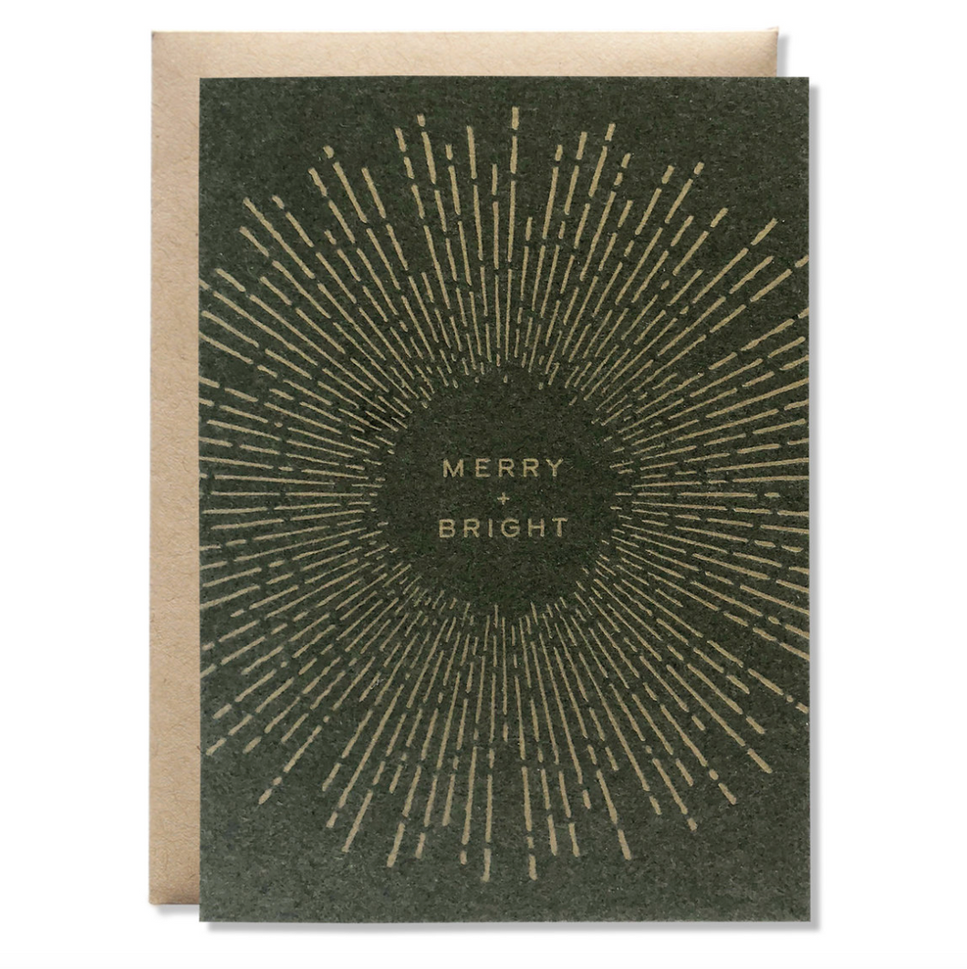 Merry + Bright Letterpress Card