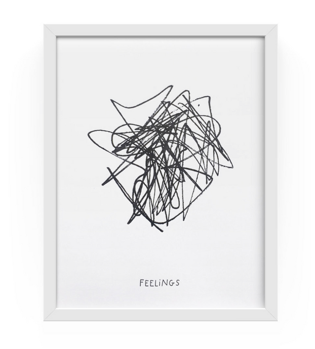 Feelings Letterpress Print