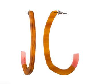Margot Low Hoops Cognac