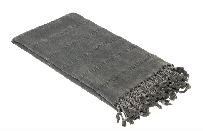 Striped Stonewashed Turkish Towel