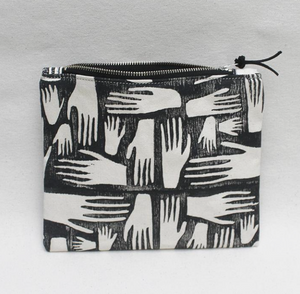 Hands Block Print Pouch
