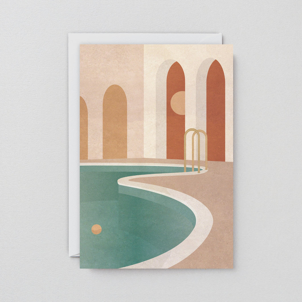 Pool With Arches Art Card