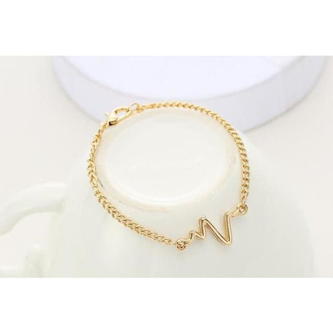 Image of Heartbeat Bracelet - gold
