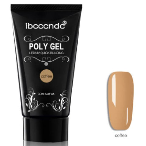 Poly Gel Nail Extension (30ml) - Coffee - Health & Beauty Hair / Nail Art & Tools / Nail Gel