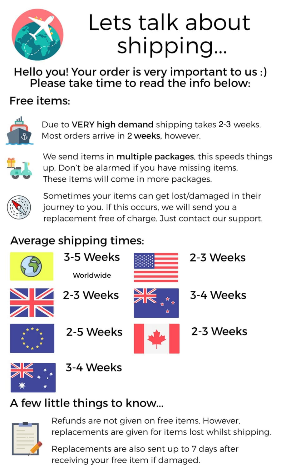 BlueCrate Shipping Details