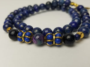 BLUE NILE WRAP BRACELET(for Him-Natural Stones)
