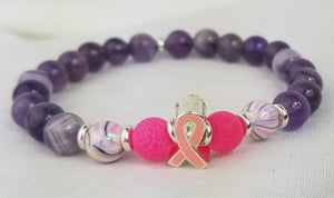 FAITH (Natural Stones) *BREAST CANCER AWARENESS*