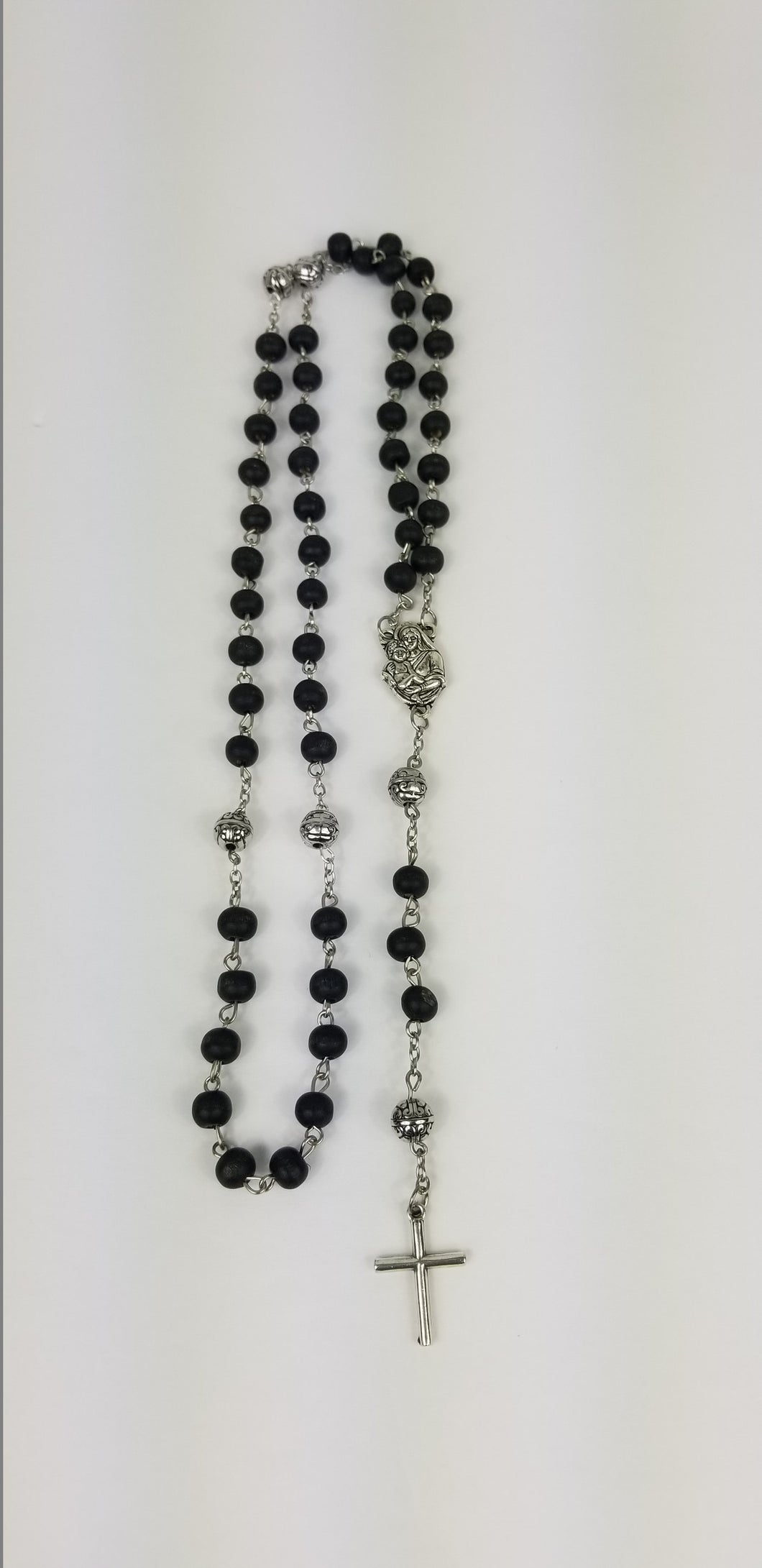 BLACK  ROSARY (5 DECADES ROSARY)