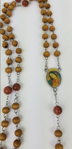 LIGHT BROWN ROSARY (5 DECADES ROSARY)