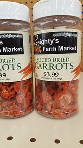 Sliced Dried Carrots