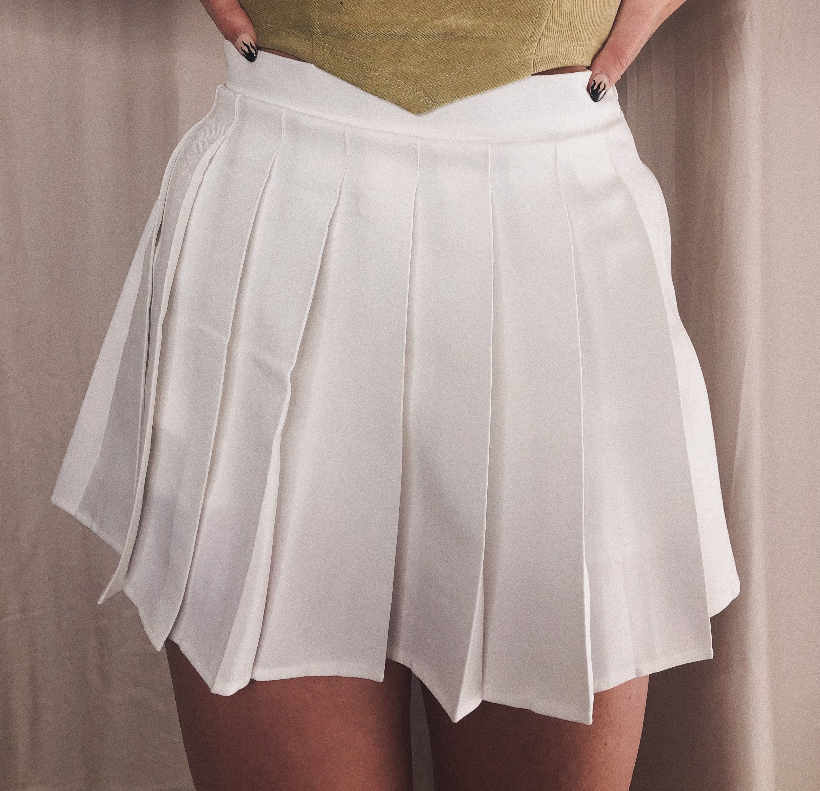 {Psycho's in Love} Pleated Mini Skirt