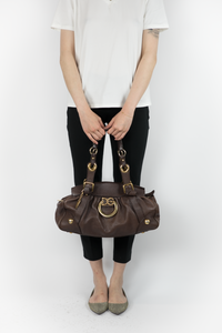 D&G Brown Bag with Gold Accents