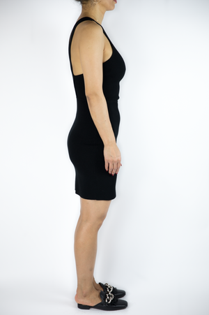 Elizabeth and James - Black Razor Back Dress - Size XS