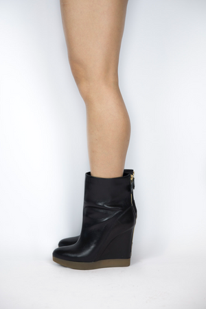 Jil Sander - Black Wedge Booties - Size 38 1/2
