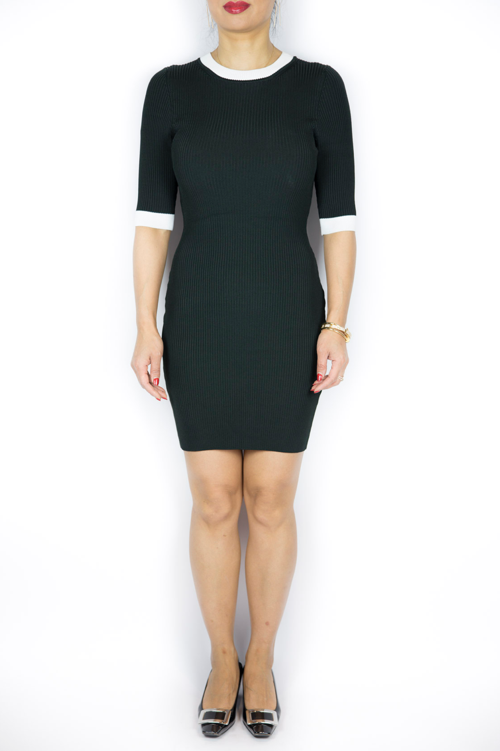 ALC - Dark Green Mini Dress - Size S