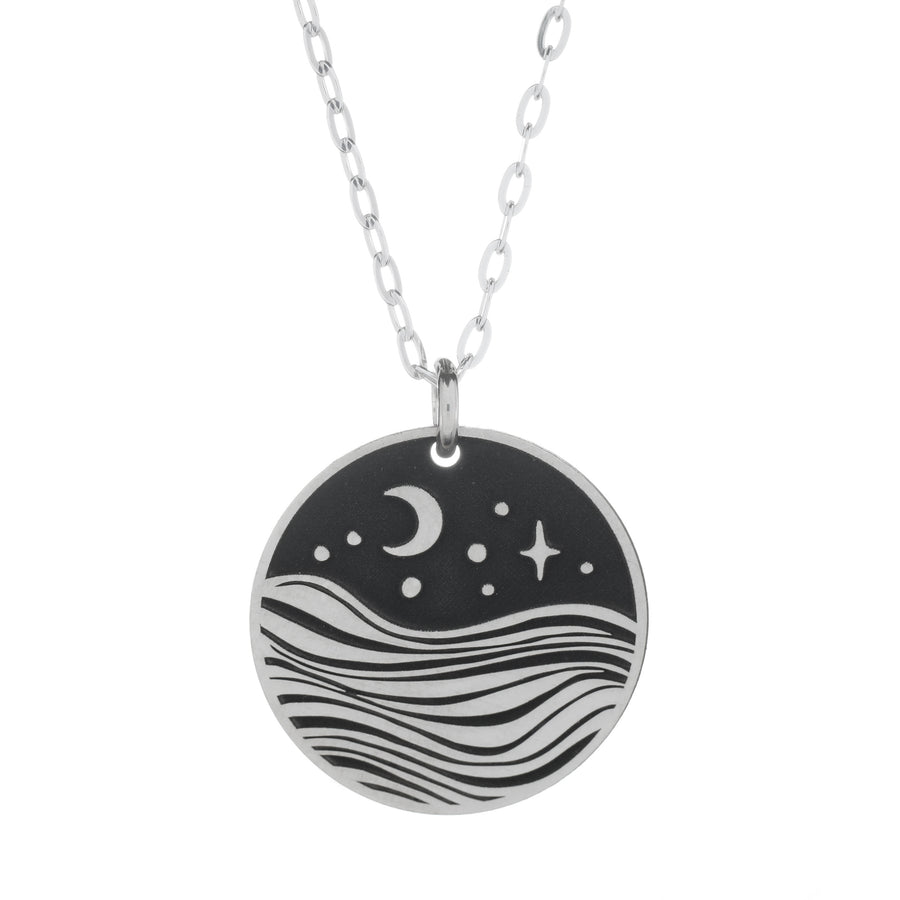 Night Outdoors Small Bar Necklace