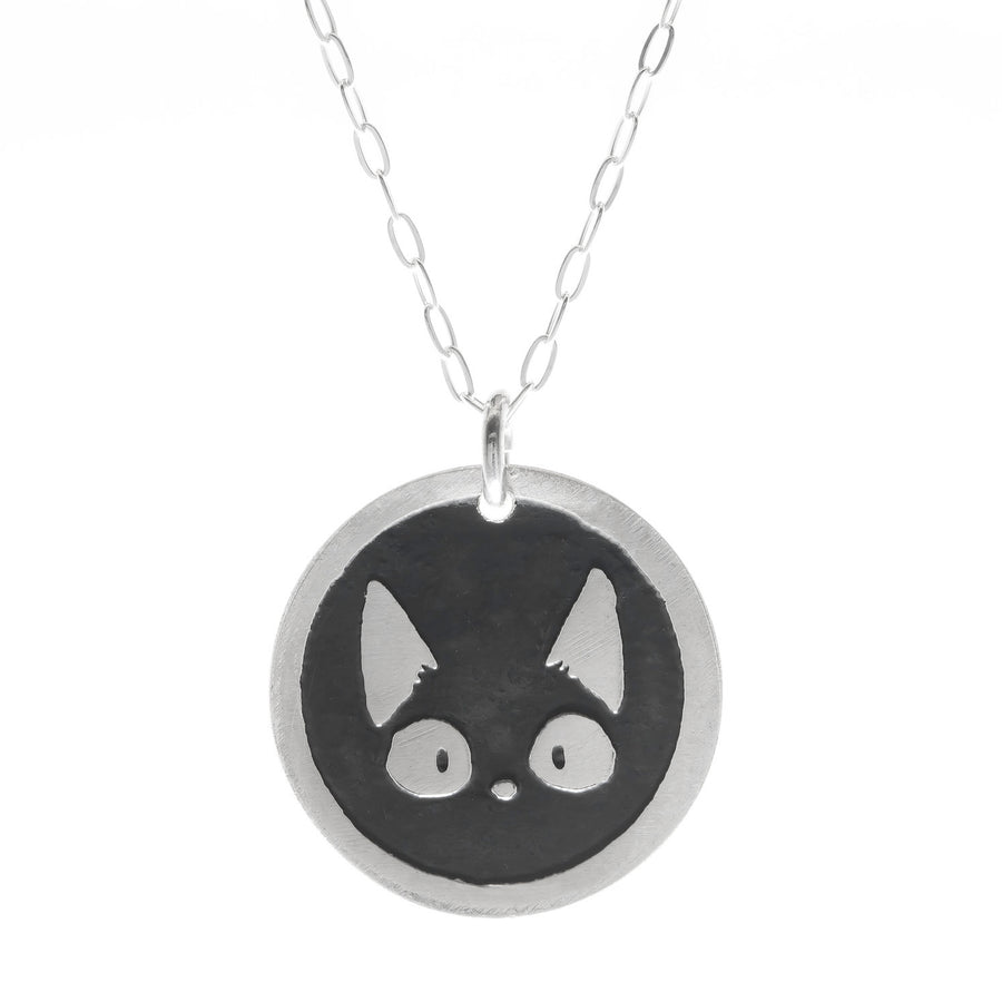 Cat Round Necklace