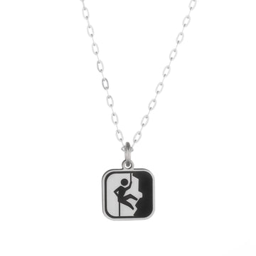 Happy Camper Skinny Vertical Bar Necklace