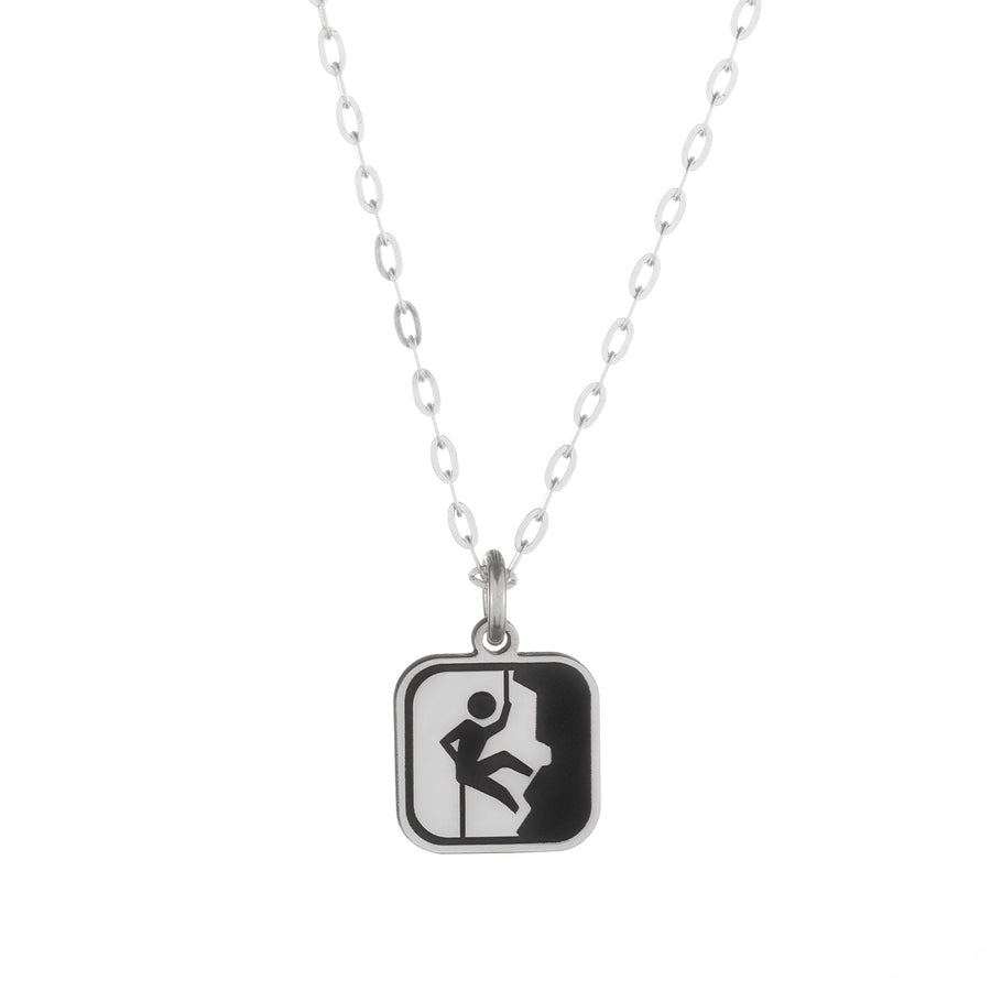 Rock Climbing Sign Necklace
