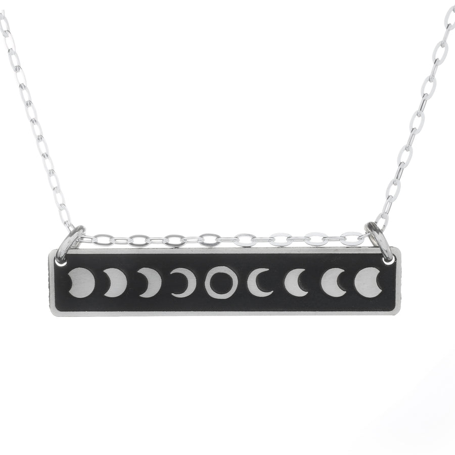 Solar Eclipse Horizontal Bar Necklace
