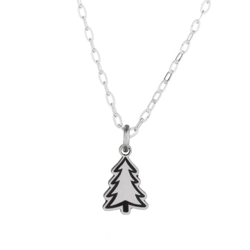 Pine Tree Tiny Necklace