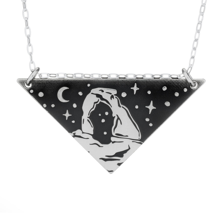Delicate Arch Triangle Necklace