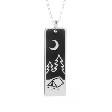 Find Your Path Wide Bar Necklace