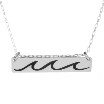 Catching Waves Horizontal Bar Necklace