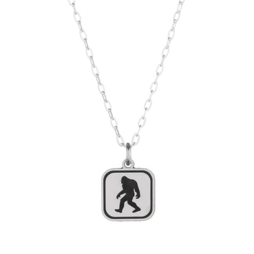 Bigfoot Sign Necklace