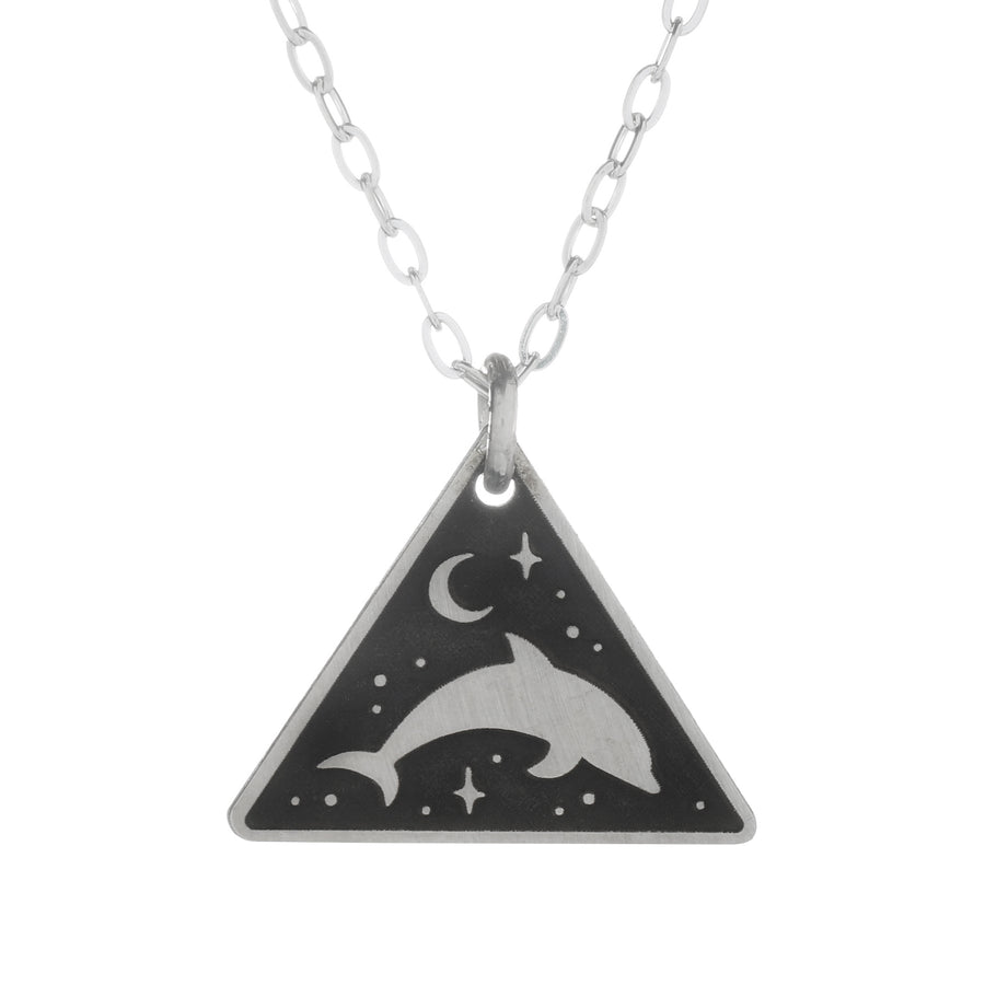 Moon Dolphin Necklace