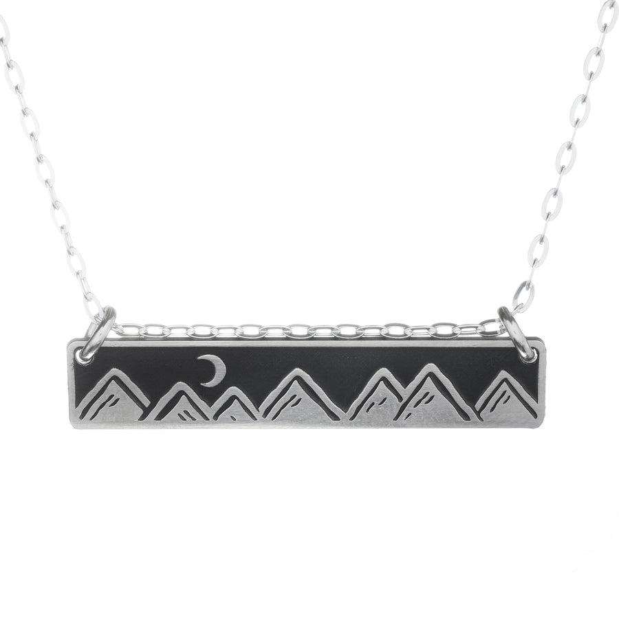 Moonlit Mountains Horizontal Bar Necklace