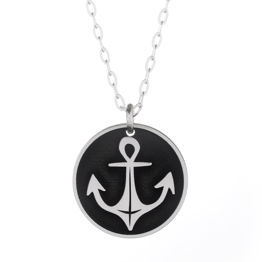 Nautical Anchor Round Necklace