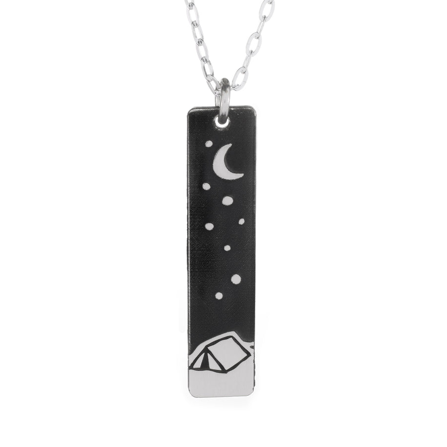 Happy Camper Bar Necklace