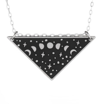 Night Scene Skinny Vertical Bar Necklace