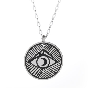 Evil Eye Round Necklace