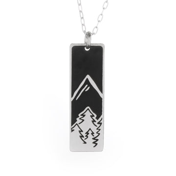 Outdoor Adventure Wide Bar Necklace