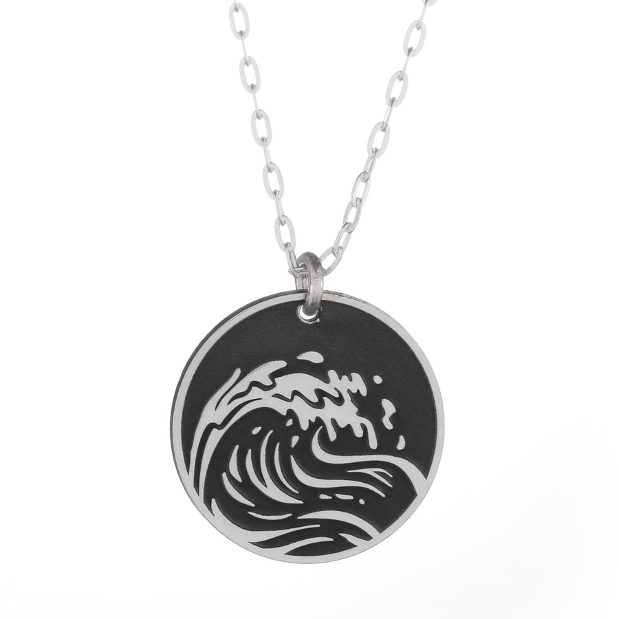 Wind Wave Round Necklace