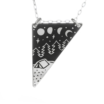 Silver Mountain Skinny Vertical Bar Necklace