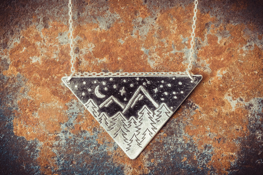 Under the Sky Large Triangle Necklace