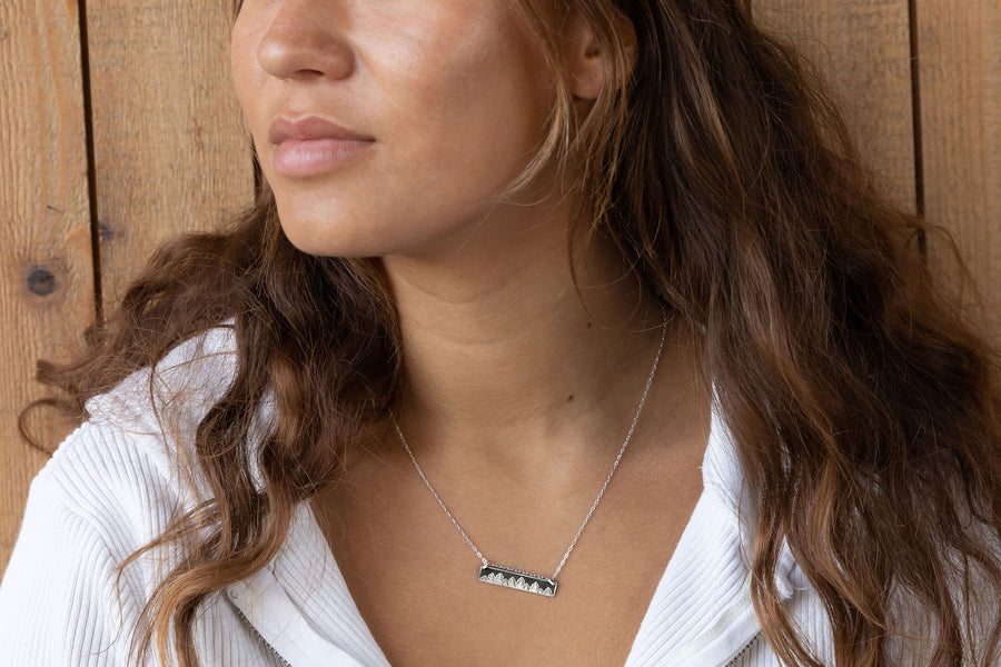 Treeline Horizontal Bar Necklace
