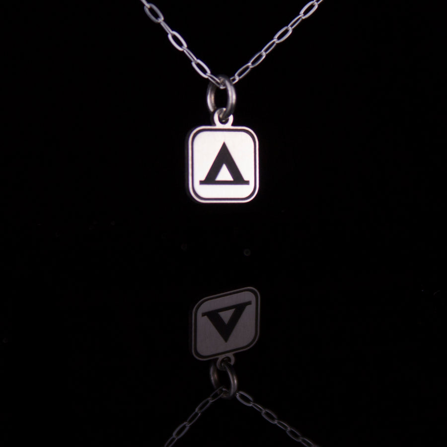 Camping Sign Necklace